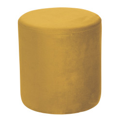 Pouf joye velours 40 cm jaune