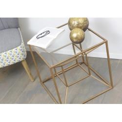Bout de canapé Cube cubique