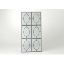 Miroir avec six ronds gris