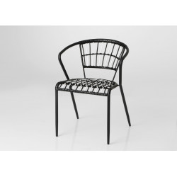 Chaise noire et blanche en...