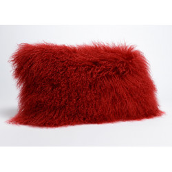 Coussin rouge en agneau...