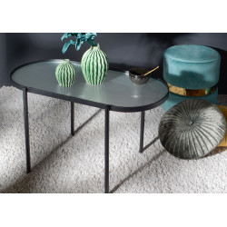 Table basse ovale texturé