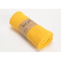 Plaid bicolore 130x170 jaune