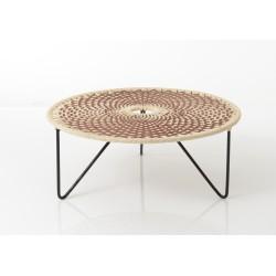 Table basse marron Baya 75 cm