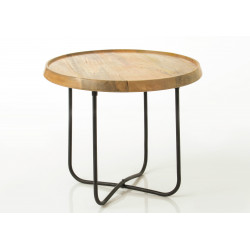 Table basse ronde en bois...